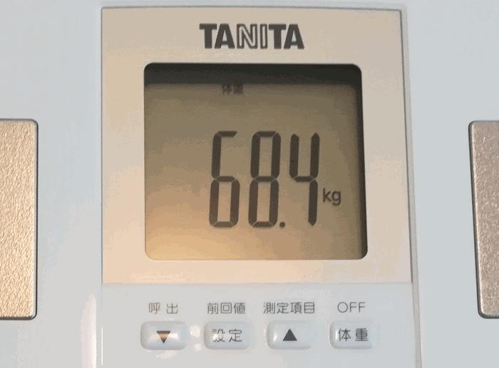 タニタのBC-765-WH 体重