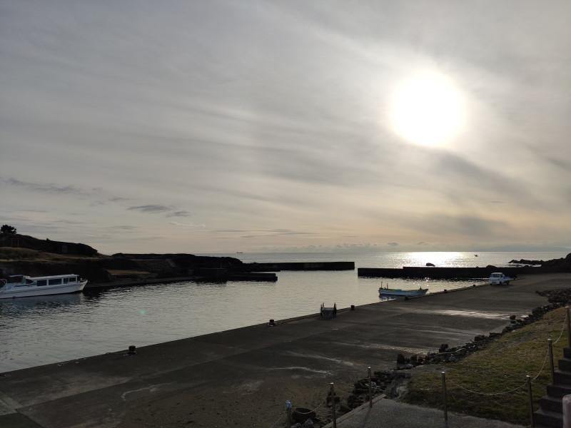 野島崎の夕日
